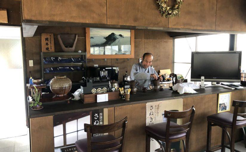 讃岐財田駅前にうどん屋「のぼり釜」オープン